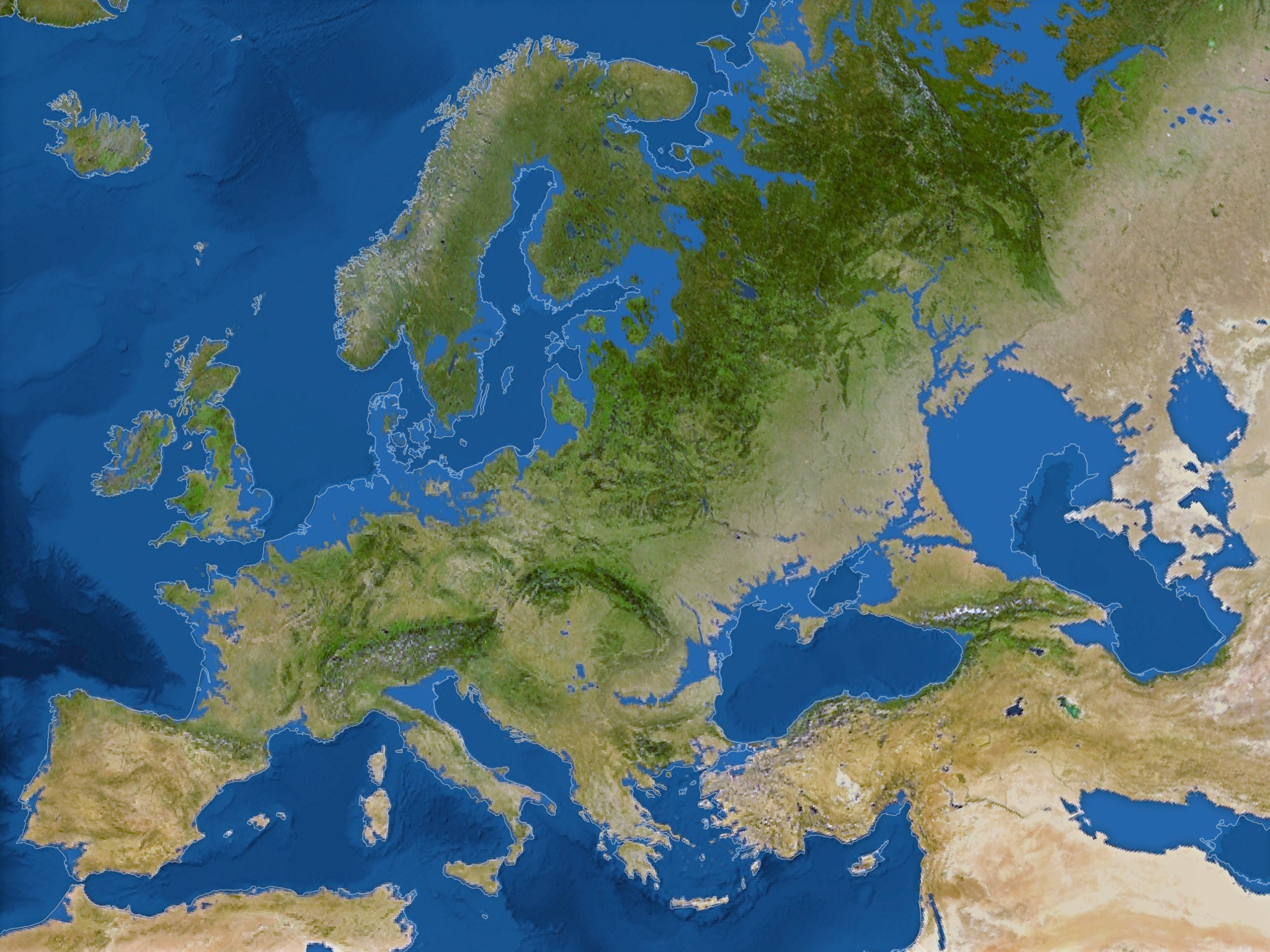 Europe Montée eaux